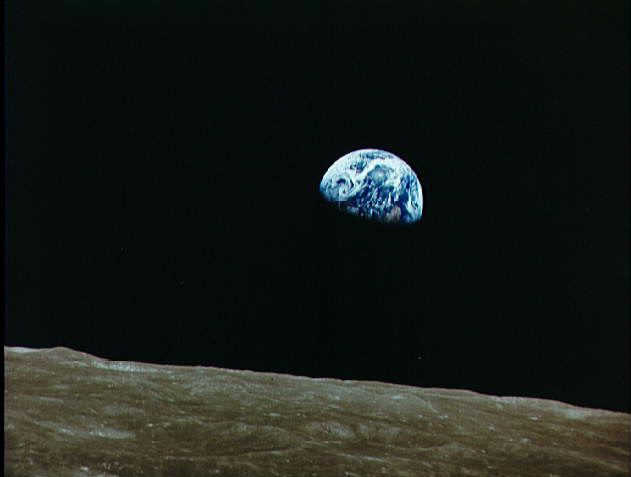 First Image of Earth from the Moon