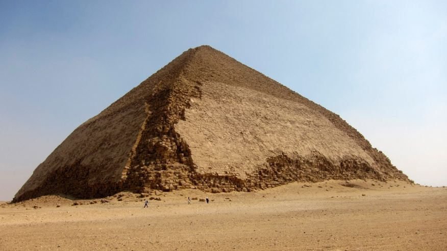 FILE - This file Aug. 19, 2011 photo shows the Bent Pyramid at Dahshur, about 25 miles south of Cairo, Egypt. (AP Photo/Coralie Carlson, File)