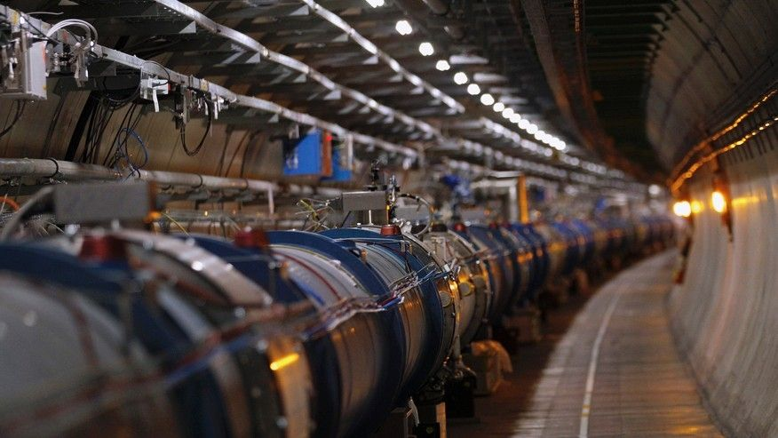 The LHC (Large Hadron Collider) tunnel. (REUTERS/Denis Balibouse)