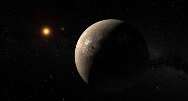 Artist's impression of Proxima b and Proxima Centauri [Photo credit: ESO/M. Kornmesser]